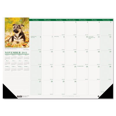 Earthscapes Puppies Wall Calendar (House of Doolittle Earthscapes Compact Puppy Desk Pad Calendar 12 Months January 2012 to December 2012, 18.5 x 13 Inch, Color Photo, Recycled (HOD1996))