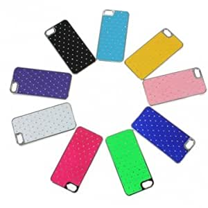 Rhinestone Bling Chrome Plated Case Cover For iphone 5 -*- Color -- Green