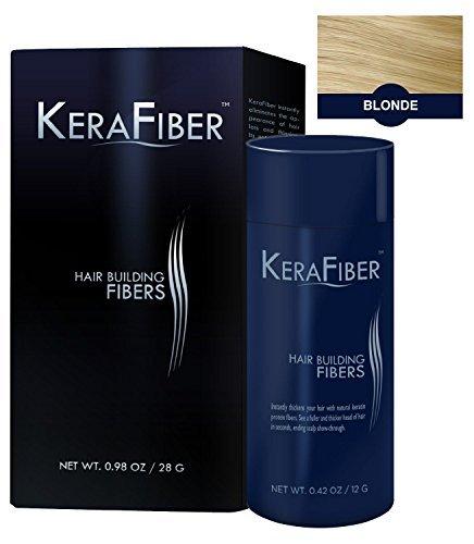 KeraFiber Hair Building Fibers, Blonde 28 g by KeraFiber Hair Building Fibers (28G) - Blonde by KeraFiber Hair Building Fibers (28G) - Blonde