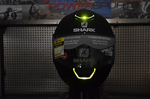 XL Shark Skwal LED Light Up Street Full Face Motorcycle Helmet Matte Black (Face Shark Helmet)