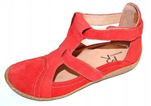 MARIARUI-chaussures basses en cuir pour femme rouge 6145 ballerines femme