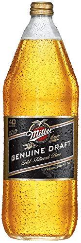 - Miller Genuine Draft Lager Beer Bottle, 4.6% Abv, 40 Fl Oz