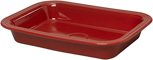 Fiesta 9-Inch by 13-Inch Lasagna Baker, Scarlet China Dinnerware Manufacturers
