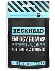 Blockhead Energy Gum Peppermint 30 stuks | Noötropische kauwgum met cafeïne | Vitamine B1, B6 en B12 | Ginseng | Suikervrij | Calorievrij
