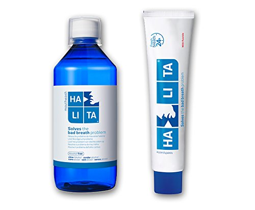 Halita SET for bed mouth problem - Halita mouthwash 500ml + Halita toothpaste 75ml by Halita