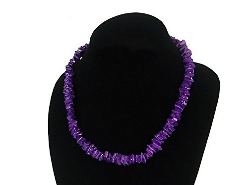 Purple Hawaiian Surfer 18 Inch Puka Shell Necklace