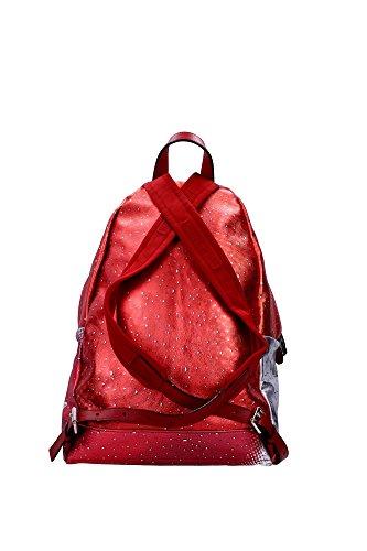 Borse a Zaino Moschino Unisex Pelle Rosso, Bianco, Nero e Grigio 7A760680081112 Rosso 15x30x36 cm