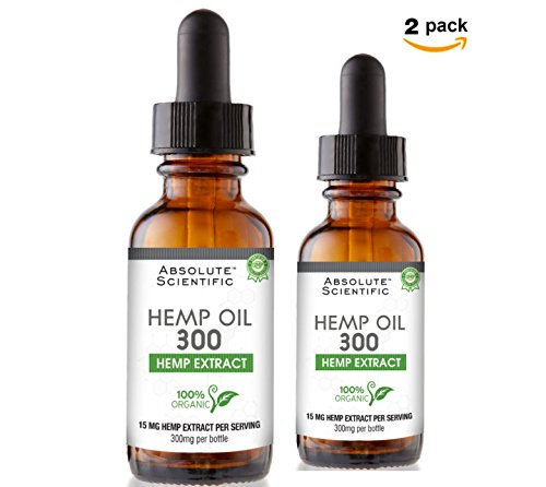 41TlQilmnsL - Absolute Scientific Hemp Oil 300, Dropper (2 Pack) 600 milligram