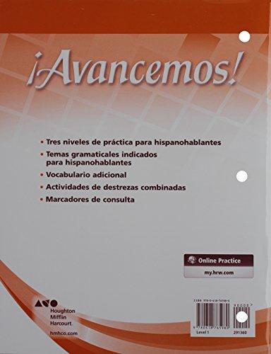 ¡Avancemos!: Cuaderno para hispanohablantes (Student Workbook) with Review Bookmarks Level 1 (Spanish Edition) [MCDOUGAL LITTEL] (Tapa Blanda)