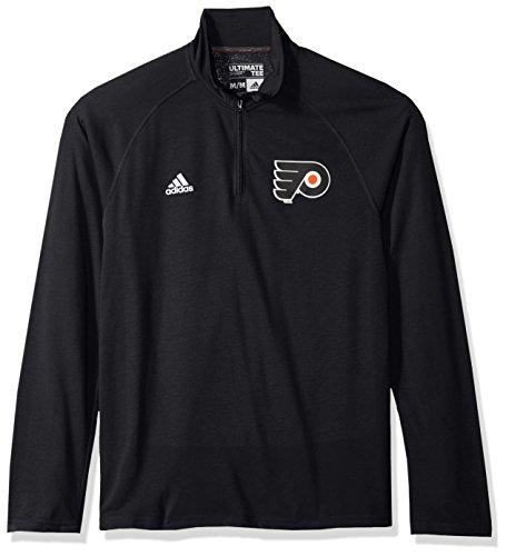 adidas NHL Philadelphia Flyers Mens Left Defenseman Ultimate L/S 1/4 Zipleft Defenseman Ultimate L/S 1/4 Zip, Black, Large ()
