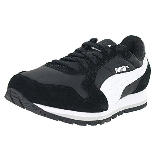 PUMA Women's St Runner NL Women's Sneaker,Black/White,7.5 B US