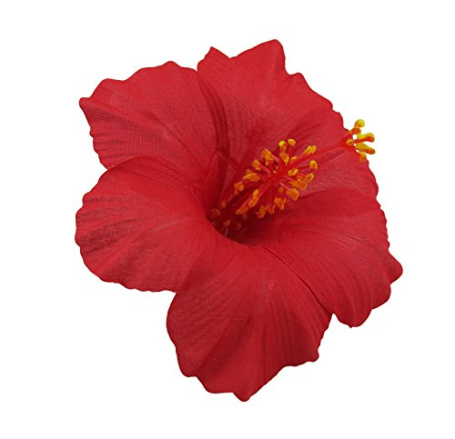 Hawaiian Hibiscus Flower Hair Clip (Red)