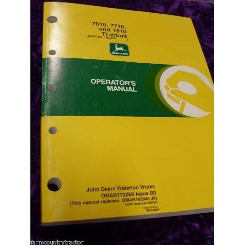 John Deere 7610/7710/7810 OEM OEM Owners Manual OM big image