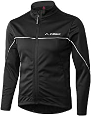 INBIKE Men's Cycling Jacket Winter Windproof Thermal Running Soft Shell Ultra