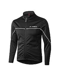 INBIKE Men's Cycling Jacket Winter Windproof Thermal Running Soft Shell Ultra Warm