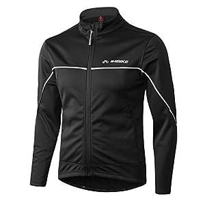 INBIKE Veste Cyclisme pour VTT Velo Homme Hiver Vestes Thermique Imperméable Coupe-Vent Sportwear
