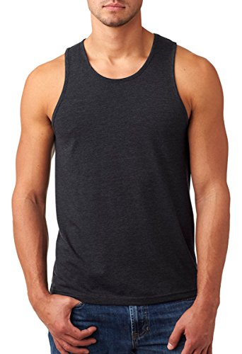 Next Level Men's Rib-Knit Sublimated Muscle Tank Top, Large, Charcoal