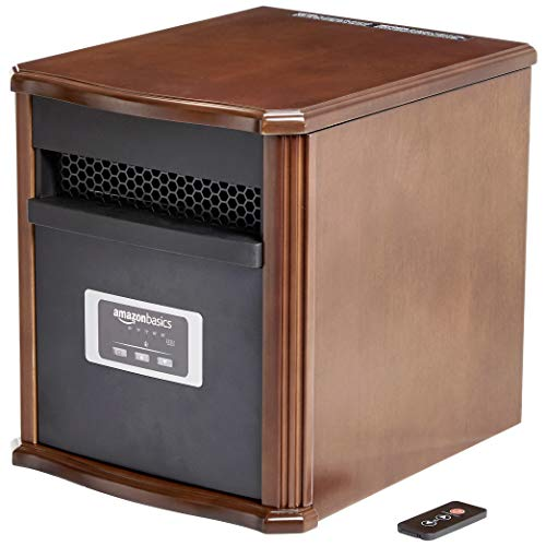AmazonBasics Portable Space Heater 1500W, Wood Casing