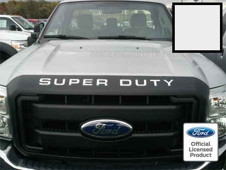 Ford SUPER DUTY Letter Inserts (thin) for Hood / Grille White - CW (2008-2016) F250 F350 F450 Decals Stickers ()