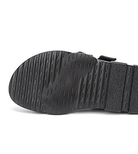 Pantofole a alti piatti DHG 36 donna basso casual Sandali alla Sandali moda basso Sandali tacco Tacchi tacco da Nero con estivi UqqwxE86