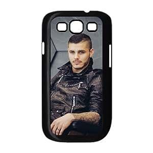 Funda Samsung Galaxy S3 9300 caja del teléfono celular Funda Negro Mauro Icardi V4I6KQ