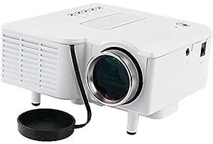 Mini Hd Home Cinema Theater Led Multimedia Projector Pc Av Tv Usb Vga Hdmi White