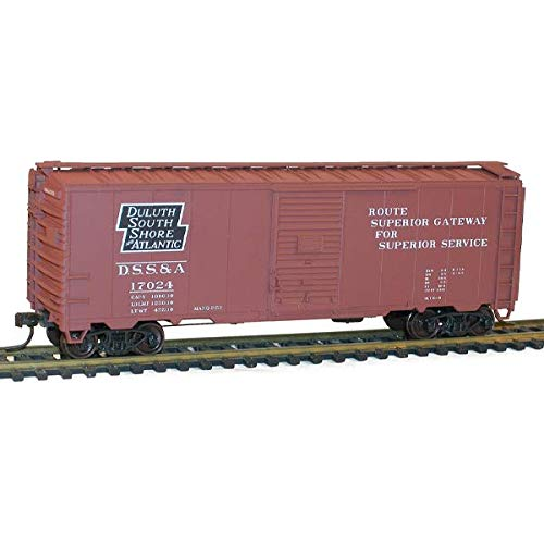 AAR 40' Single-Door Steel Boxcar - Kit - Duluth, South Shore & Atlantic #17024 (Boxcar Red, Black, Superior Slogan (Single Boxcar Door Aar)