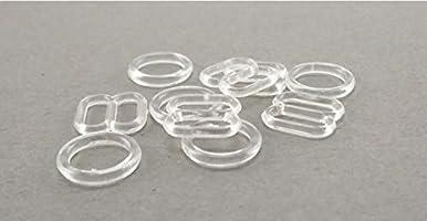 12mm bra adjustment sliders tri glide fig 8 invisible transparent buckle