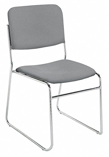 NPS 8652 Fabric-upholstered Sled Base Signature Stack Chair, 300-lb Weight Capacity, 19'' Length x 21'' Width x 33'' Height, Grey by NPS