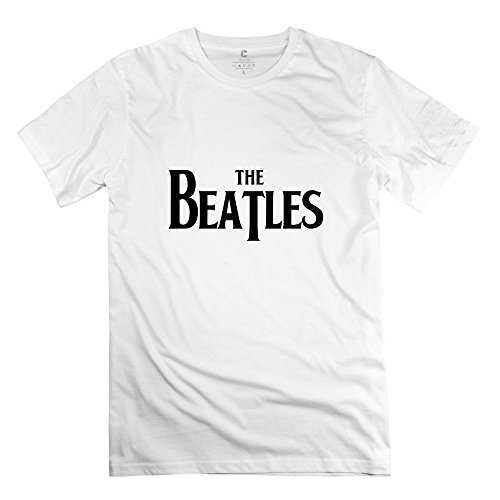 StaBe Men The Beatles Logo T-Shirt 100% Cotton Novelty M White - Reunion White T-shirt