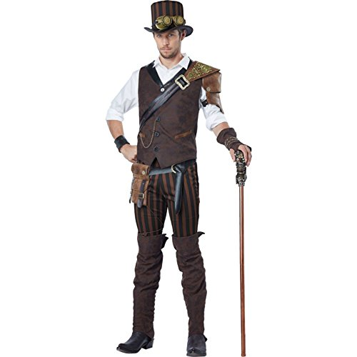 (California Costumes Men's Steampunk Adventurer Costume, Brown,)