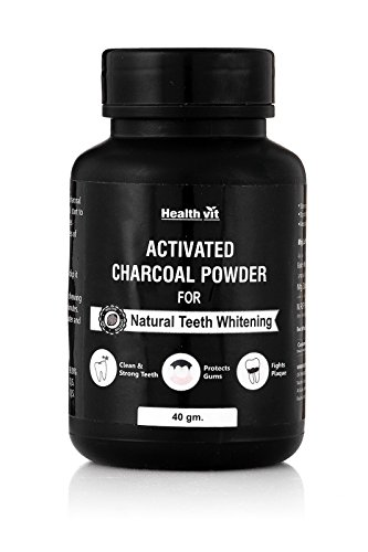 Healthvit Activated Charcoal Powder for Natural Teeth Whitening – 40 g
