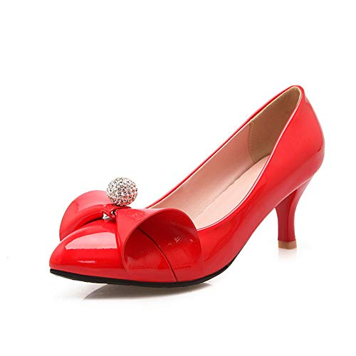 35 AN Donna Sandali Zeppa con Red Rosso DGU00677 1z1pg