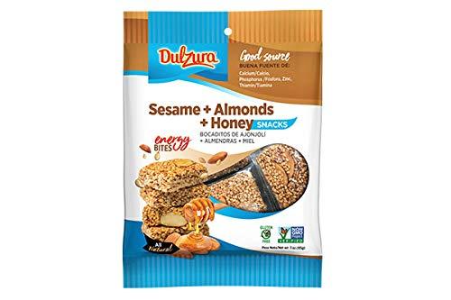 Dulzura Borincana Sesame Seed with Honey and Almonds (Ajnojoli, Miel Amendras) Bites 3 oz ()