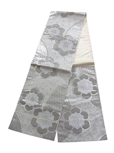 矩形プロフェッショナル暴露するリサイクル 袋帯 正絹 六通 羽根模様 華文
