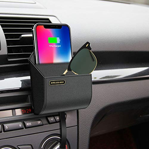 Polmxs qi Fast Phone Charger Wireless Charging pad Stand air Vent Phone Holder car Charger Wireless car Charger galaxys9s8 qi car Wireless Charger Box S3