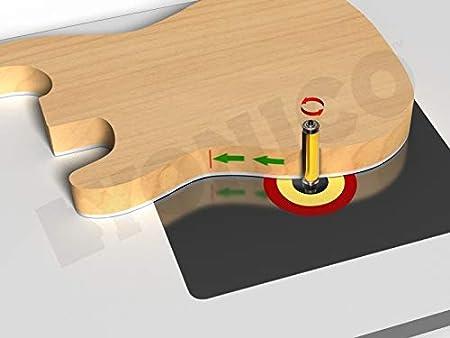 Cutting Height: 1-1//2 Shank Diameter: 3//4 Yonico 14986 Flush Trim Top and Bottom Bearing Router Bit