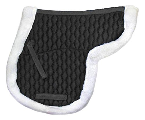 Derby Originals Fleece Padded Contour All Purpose English Saddle Pad (Riser Saddle Pad)