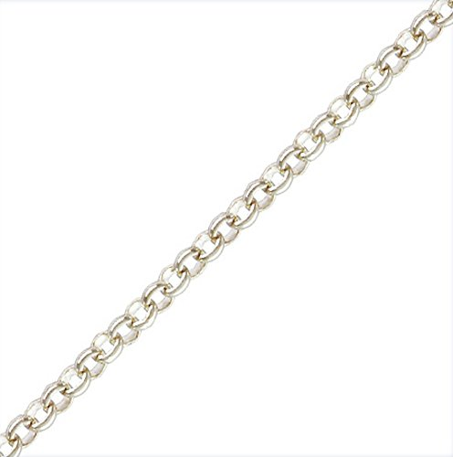 3mm Silver Rolo Chain (3 Ft. Sterling Silver 3mm Rolo Chain .925 by JensFindings)