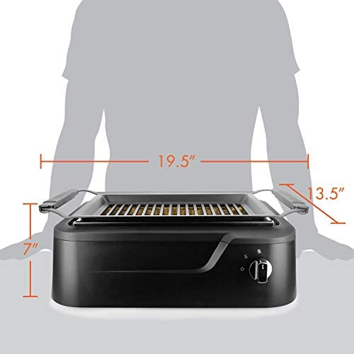 ZAHNG Smoke-Less Infrarouge Grill, Grill intérieur, Chauffage électrique Grill Tabletop, Facile antiadhésifs à Nettoyer BBQ Grill, Party/Home