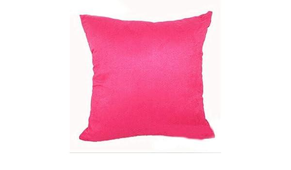 vintage cap Plain Suede Pillow Covers Cotton Soft Simple ...