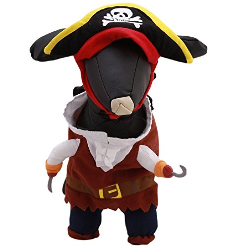 Caribbean Pirate Dog Costume Clothes Clothes For Dogs Cats Design Your Baby Size S M L Ployester Material (Minion Dog Costumes)