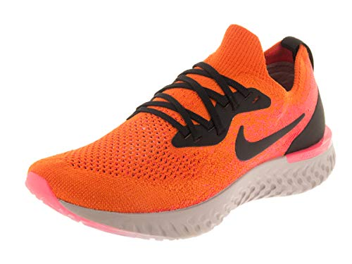 Nike Kids Epic React Flyknit (GS) Copper Flash/Black Running Shoe 6.5 Kids US