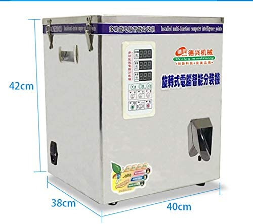 CGOLDENWALL Professinal Multifunctional Tea Packing Machine Automatic Granule Particle Weighing and Filling Machine for Green Tea/Fruit Tea/Herbs Packing Range:Strip Shape 1-25g Granule Shape 1-50g