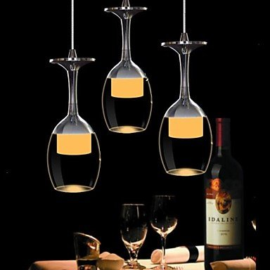 YanCui@ 25cm Round 9W LED Bar Wineglass Chandelier Dining Room Pendant Lamp
