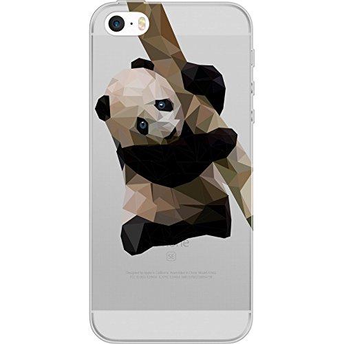 PhoneNatic Case für Apple iPhone 5 / 5s / SE Silikon-Hülle Vektor Tiere M4 Case iPhone 5 / 5s / SE Tasche + 2 Schutzfolien