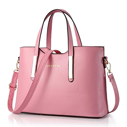 BYD - PU Cuero Mujer Handbag bolsos de mano moda Bolsos bandolera Diseñado por ( Sweet Sa ) Bolsos totes Color derosa