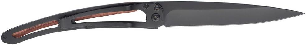 Adulto deejo DEE1GB120 Cuchillo Tascabile,Unisex Negro un tama/ño
