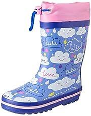 Clarks Girls' Puddles G Boots, Blue/Pink E