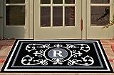 Edinburgh Estate Doormat - Monogrammed Black & White R 3 x 5